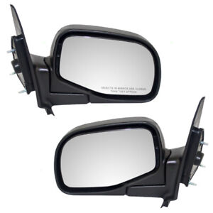 Pair Set Manual Side View Mirrors Glass Housing for Ford Ranger Mazda Pickup
