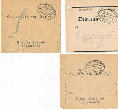 Hannover Berlin 3 Verschiedene Bahnpoststempel 1933/34 Bereitstellung Von Annehmlichkeiten FüR Die Menschen; Das Leben FüR Die BevöLkerung Einfacher Machen