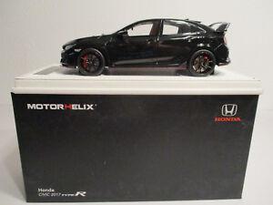 ( Gok ) 1:18 Motorhelix Honda Civic Type-r Noir Neuf Emballage Scellé
