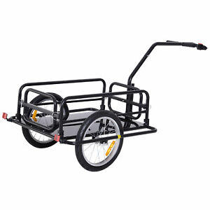 Folding-Bicycle-Bike-Cargo-Storage-Cart-and-Luggage-Trailer-with-Hitch-Black