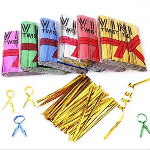Enveloppe-ligature-acier-Cellophane-Sac-Twist-Ties-Metallique-Fil-Pack-D-039-etancheite