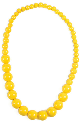 Yellow Big Pearls Necklace Costume Accessory