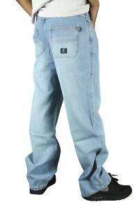 360 Clothing 274 stonewash Loose Fit Crosshatch Blue Denim Jeans Skate baggy