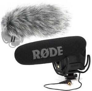 Rode Videomic Pro Rycote Kamera Richtmikrofon + KEEPDRUM WS03 Fell-Windschutz