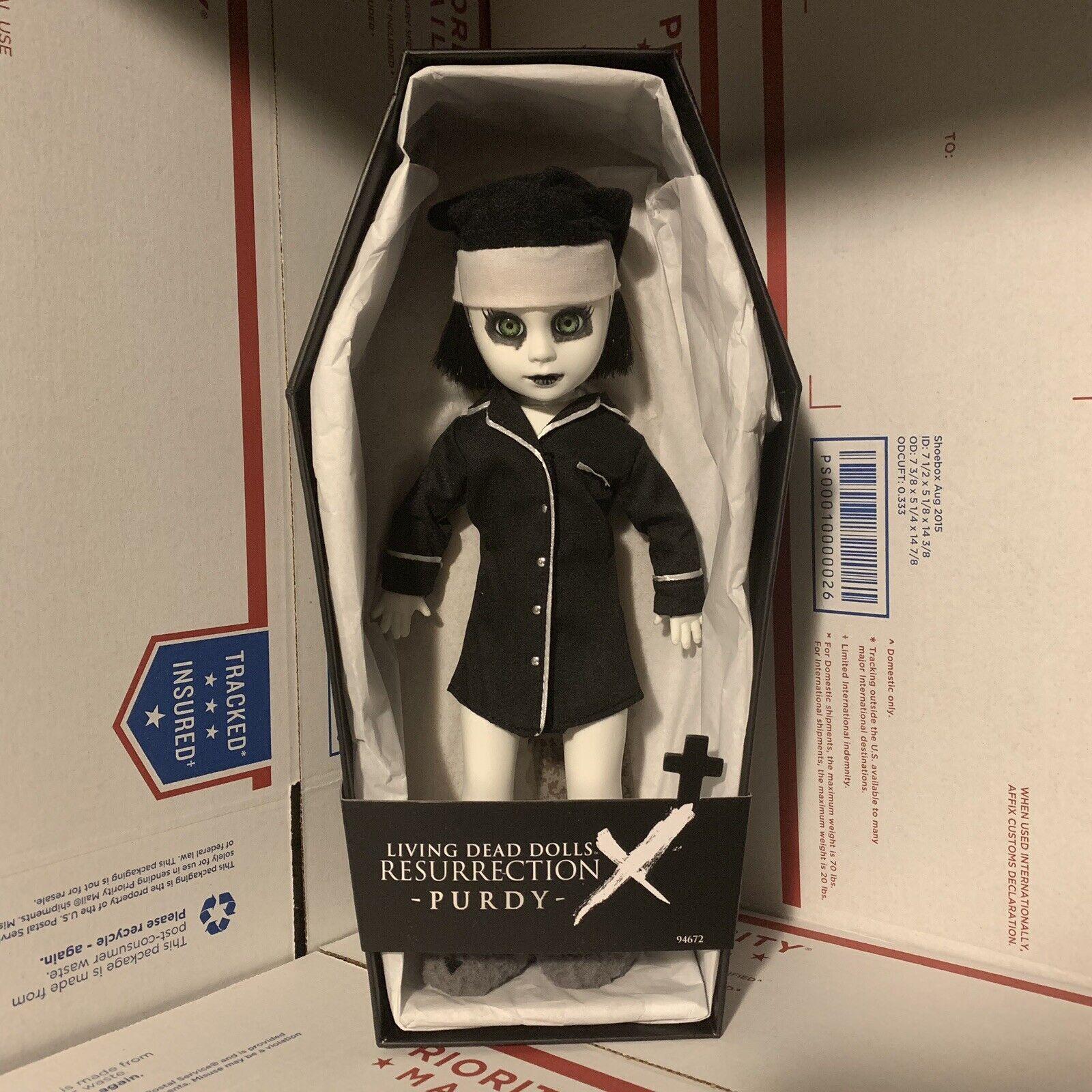 Living Dead Dolls resurrección X 10 Purdy Ldd Mezco Mezcotoyz Zombie