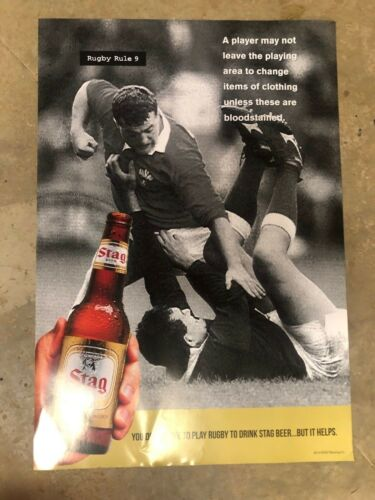 Rugby Rule #9 *NEW* Stag Beer Poster