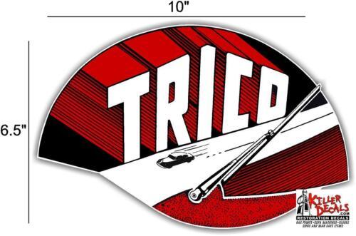 """TRICO-2 10/"""" TRICO WINDSHIELD WIPER GARAGE MANCAVE GAS OIL STICKER DECAL"""