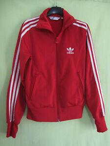 Détails sur Veste Adidas Originals Trefoil Rouge et blanche Femme vintage 34