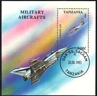 (Ref-10875) Tanzania 1993 Military Aircraft Miniature Sheet SG.MS1680 Used (CTO)