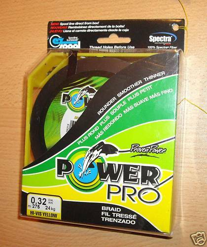 POWERPRO fishing braid - 300yd 106lb YELLOW  POWER PRO