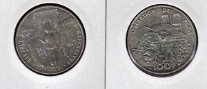 FRANCE-100-F-argent-DE-GAULLE-liberation-1994-superbe