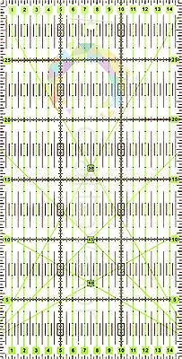 30cm x 15cm Quilting Patchwork Ruler Premium Rotary Craft Rectangle Metric