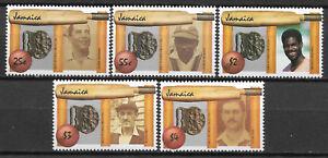 JAMAICA-1988-CRICKET-DIAMOND-JUBILEE-5v-MNH