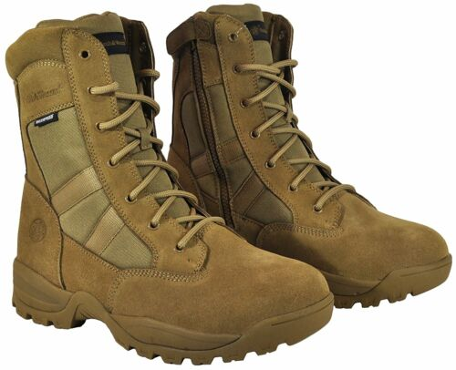 Coyote Smith /& Wesson Breach 2.0 Men/'s Tactical Waterproof Side-Zip Boots