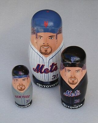 N.Y METS Baseball Russian Nesting Doll Set Collectible