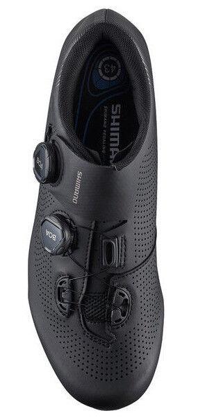 Shimano RC7 Carbono Carretera Bicicleta Zapatos Negros SH-RC701 Ancho Ancho Ancho 40e Us 6.7 7c1cf2