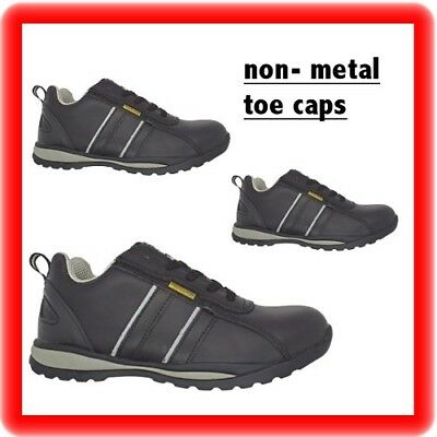 PPE LADIES WOMENS PLASTIC NON METAL COMPOSITE TOE CAP SAFETY WORK SHOES TRAINERS