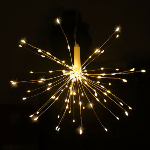120//180LED Outdoor Firework Fairy Lights Christmas String Lights Remote Control~