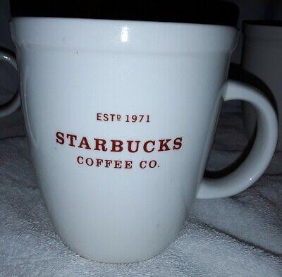 Tea Cup Starbucks Barista 2007 Estd 1971 Abbey Logo Large White Coffee Mug