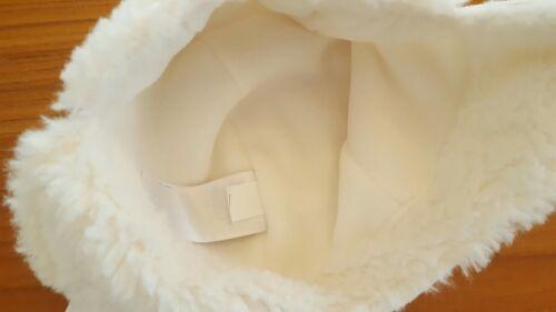 NEW Old Navy Girls Boys 0-6 12-18 18-24 MONTHS White Trapper Hat WINTER #21117