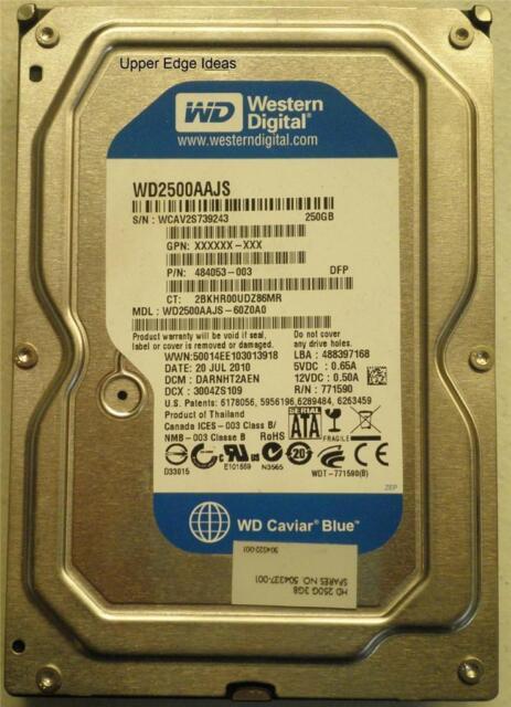 Western Digital 250GB Hard Drive HDD 3.5 WD2500AAJS-60Z0A0