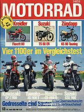 Motorrad 13 1981 Kreidler Florett 80 Laverda 500SFC Morini 500 Camel Zündapp KS