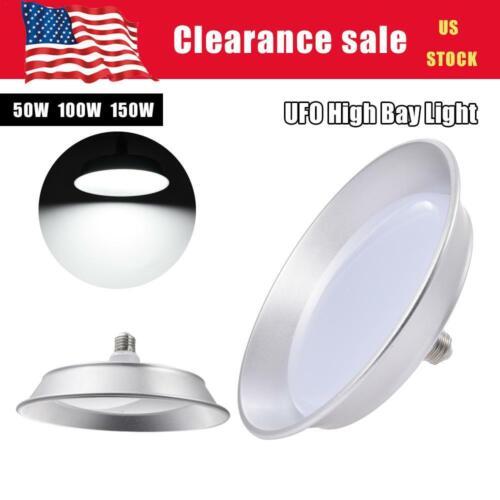 Super Bright Warehouse LED 50W 100W 150W UFO High Bay Lights Shop GYM Lamp E27