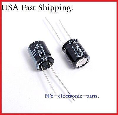 20pcs- 330uf 35v Radial Electrolytic Capacitor 35v330uf  Rubycon ZL