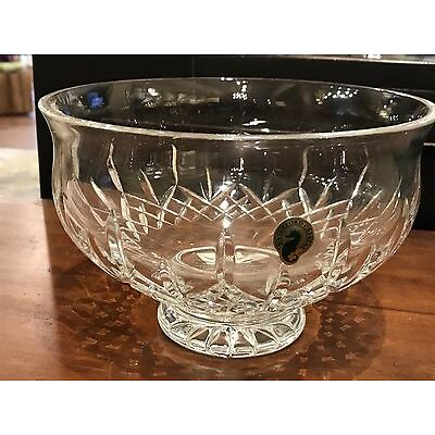 """Waterford Lismore 8"""" Crystal Bowl New In Box"""