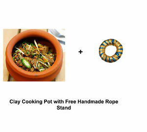Indian Cooking Clay Pot Bowl Cook Serve Seasoned Mitti Handi With Lid 2 Liter Ebay,How To Clean Fish Tank Filter Sponge