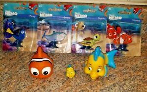 Disney Pixar Finding Nemo Dory Flounder Nemo Squirt Bruce Figures Lot of 7