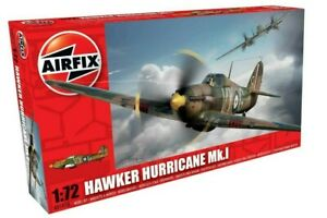 AIRFIX-1-72-Hawker-Hurricane-MK-1-WW2-Aircraft-Model-Kit-RAF-AVION-Kit-A01010