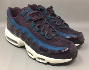 Details about Nike Air Max 95 SE Premium PRM Wine Space Blue Womens Size 7 AH8697 600
