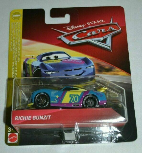 2019 Disney Pixar Cars 3 RICHIE GUNZIT Next-Gen Piston Cup Racers #70 Mattel NIB