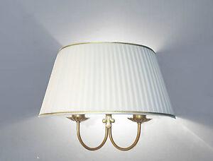 Applique lampada da muro parete doppia a due luci in metallo ventola
