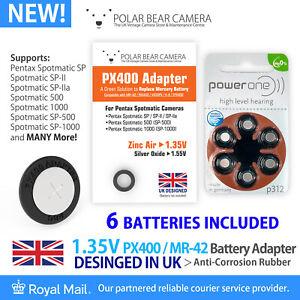 PX400 Adapter + 6 Battery Cell for Fujica ST701 MR-42 RM400 MRB400 1.35V
