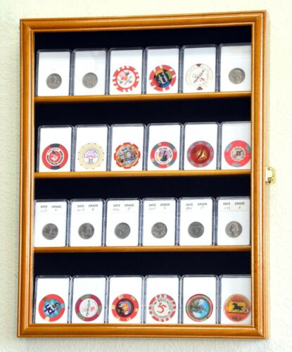 Details about  /20-24 Collector NGC PCGS ICG Coin Slab Display Case Cabinet Holder Rack Lockable