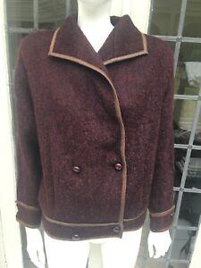 Vintage M Short Coat 40 Jacket Sz Mohair Loewe Burgundy H7q6nfRpwx