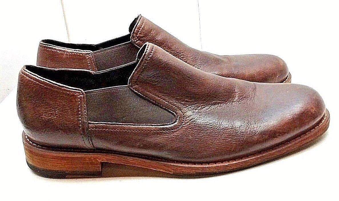 Cole Haan Marrón Cuero Sin Cordones Mocasín Llano Toe Casual de tamaño Zapato para Hombres 11M