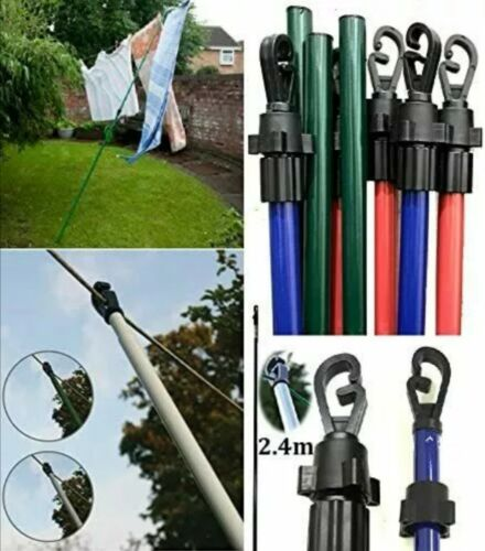 Extendable 2.4m//8ft Telescopic  Washing Line Prop