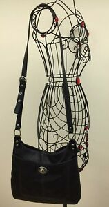 Coach-F19265-PENELOPE-Black-Leather-Hippie-Crossbody-Shoulder-Bag-Purse