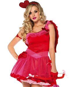 Image is loading Kiss-Me-Cupid-Adult-Sexy-Halloween-Costume-Leg-  sc 1 st  eBay & Kiss Me Cupid Adult Sexy Halloween Costume Leg Avenue 83793 Size XS ...