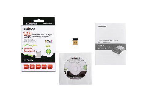 Edimax EW-7811Un 150Mbps 11n Wi-Fi USB Adapter Nano Size Lets You Plug it an...