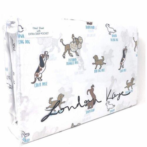 London Kaye Dogs Puppy Yoga Yogis Full 4-Piece Sheet Set
