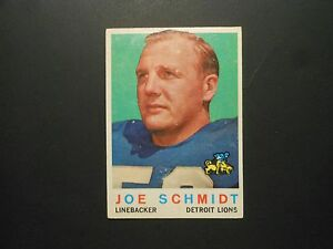 1959 TOPPS FOOTBALL CARD  6 JOE SCHMIDT DETROIT LIONS