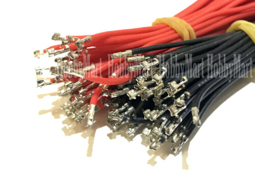 rouge noir sertis PIN Silicone Wire À faire soi-même JST-PH 2.0 mm 2-Pin Connecteur Femelle Plug