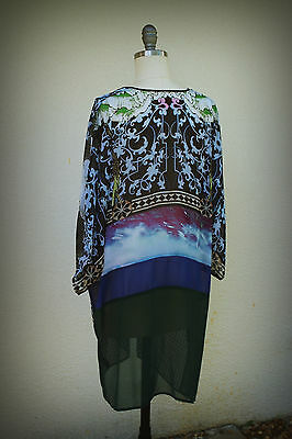 NWOT Clover Canyon Size Small Cover Up Semi Sheer Resort Made in USA