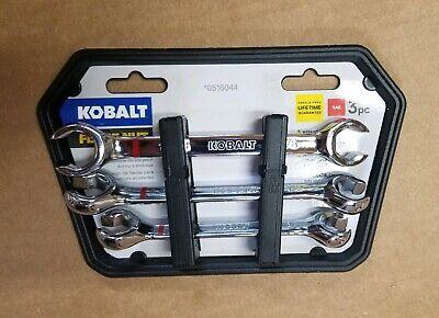 Kobalt Flare Nut 3-Piece Set 6-Point SAE Flare nut Open End Wrench Set