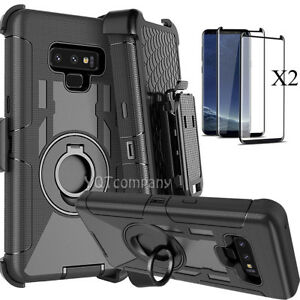 For-Samsung-Galaxy-note-9-8-Hybrid-Armor-Rugged-Hard-Case-Cover-Belt-Clip-Screen