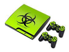 PS3 PlayStation 3 Slim Skin Design Foils Aufkleber Schutzfolie Set - Biohazard